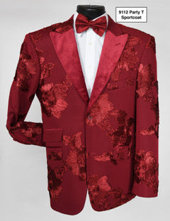 Stacy Adams Burgundy Sport Coat - 9112 Party T SC