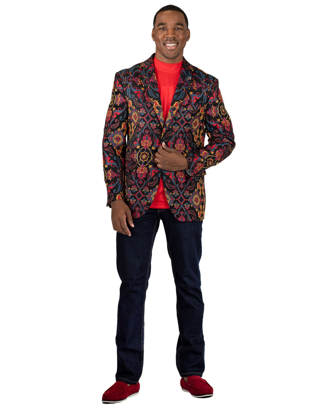 Stacy Adams Multi Color Print Sport Coat - 9120 County SC