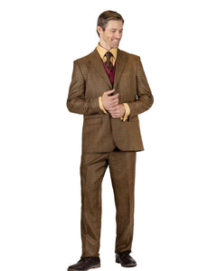 Stacy Adams Single Breasted 2 Button 3 PC Suit - 9150 ROY COMPO (3 Colors)