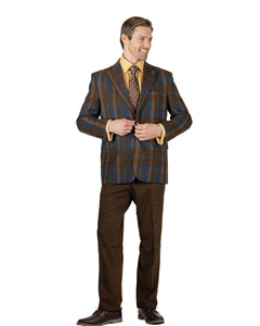 Stacy Adams Single Breasted 1 Button 3PC Suit - 9176 DAN MIX