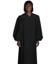 Load image into Gallery viewer, Unisex Black Baptismal Robe H-21