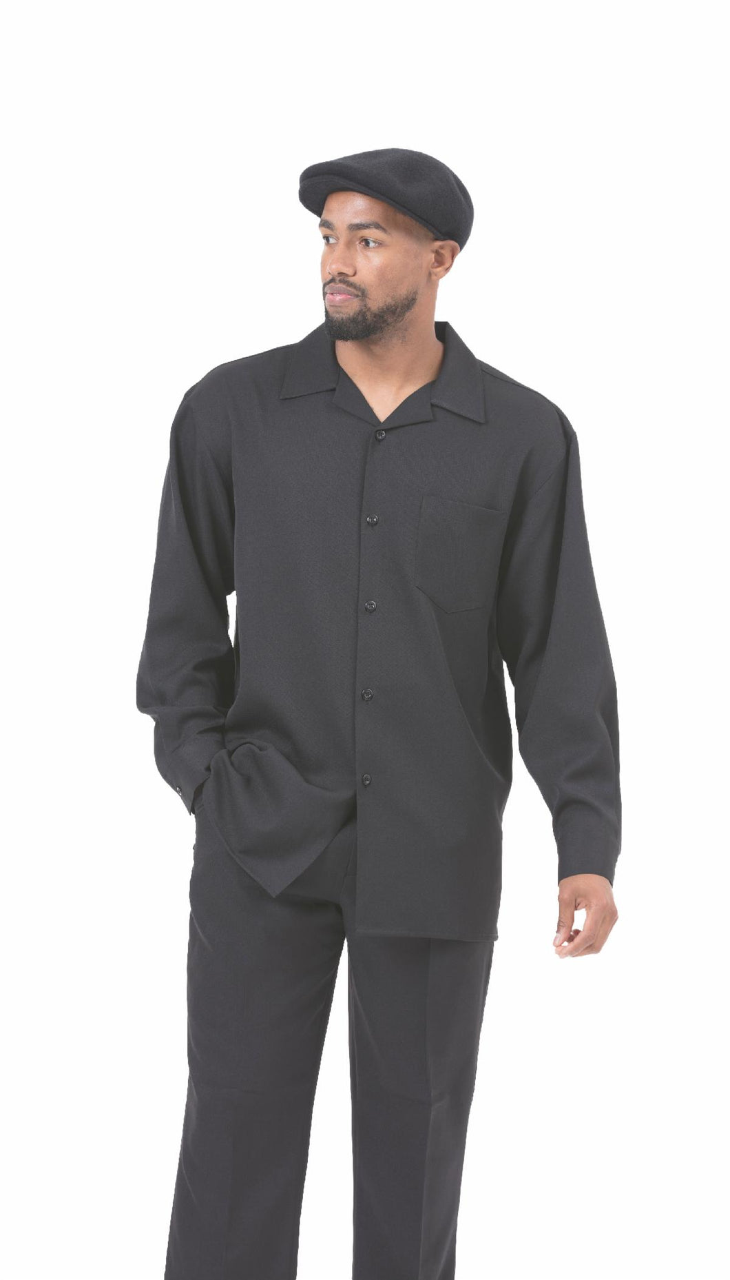 1641 Montique mens Leisure suit Black