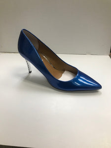 J, Renee Charise Metallic Patent Cobalt Blue Fancy 3 inch heel
