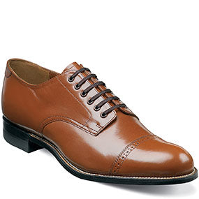 Stacey Adams Madison Cap Toe Oxford  Leather Craftsmanship Color - Oak  Style : 00012-40