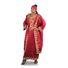 Load image into Gallery viewer, African Imports - African Queen Dress & Jacket Set Multiple Colors  Black, White, Burgundy SKU:C-WH361 (One Size Fts All)