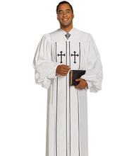 Load image into Gallery viewer, White Crepe Robe - Cleric H-6