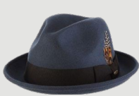 SCALA Steel Wool Felt Fedora Trilby With Grosgrain Band