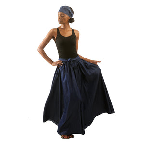 African Imports - Denim Long Skirt  SKU: C-WK093  ( One Size Fits All )