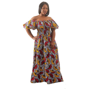 African Imports - African Flower Print Princess  SKU:C-W144 ( One Size Fits All)