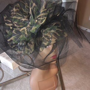 Judy Sharpe Collection - Women's Mesh Army and Gold Color Hat  SKU:HANAH