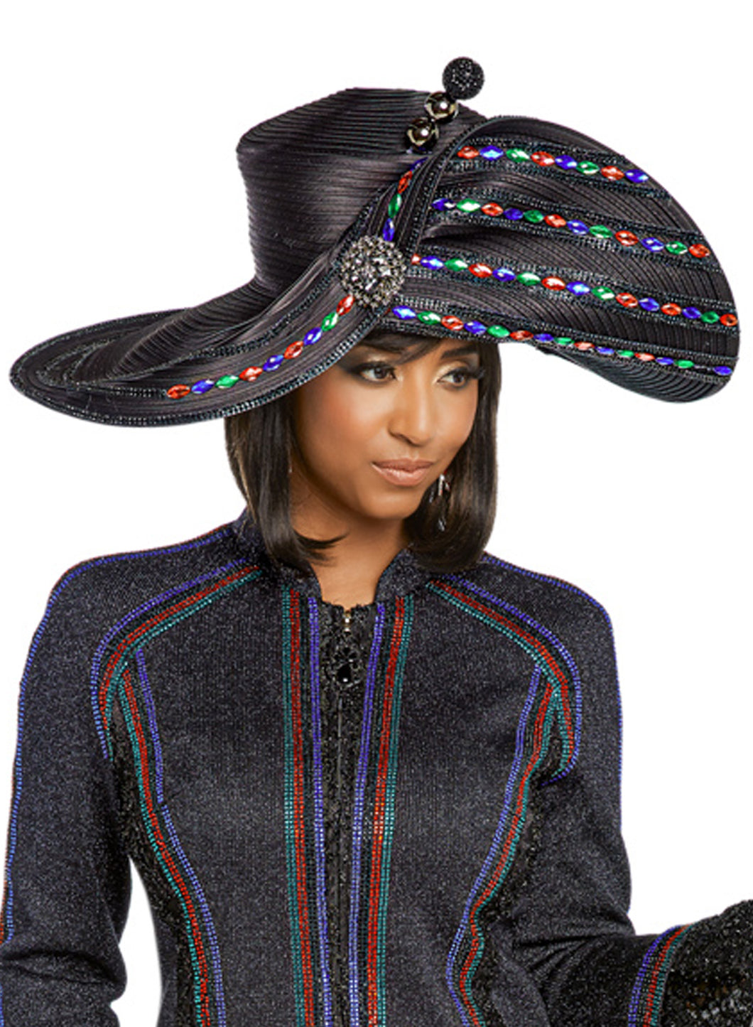 Donna Vinci Midnight Blue Hat - H13262