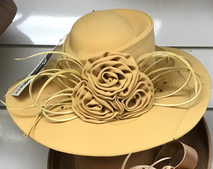 Ben Marc Fabric Soft Gold  Wide brim hat Hat