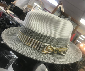 Men's Montique Straw Hat With Bow Band
