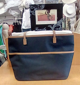 Michael Kors  Kors Tote  With Zip Front Medium Size Color Navy Blue