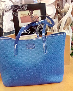 Michael Kors Large Carry All Tote With Back Pocket  Color- Electric Blue