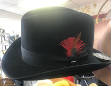 Load image into Gallery viewer, SCALA Black Feather Homburg