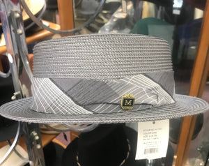 Men's Silver Gray Montique Straw Hat
