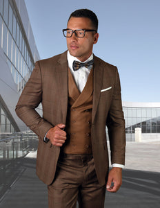 3PC Tailored Fitted Copper Suit -
