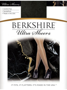 Berkshire Shimmers Ultra Sheers Control Top 4429  Black