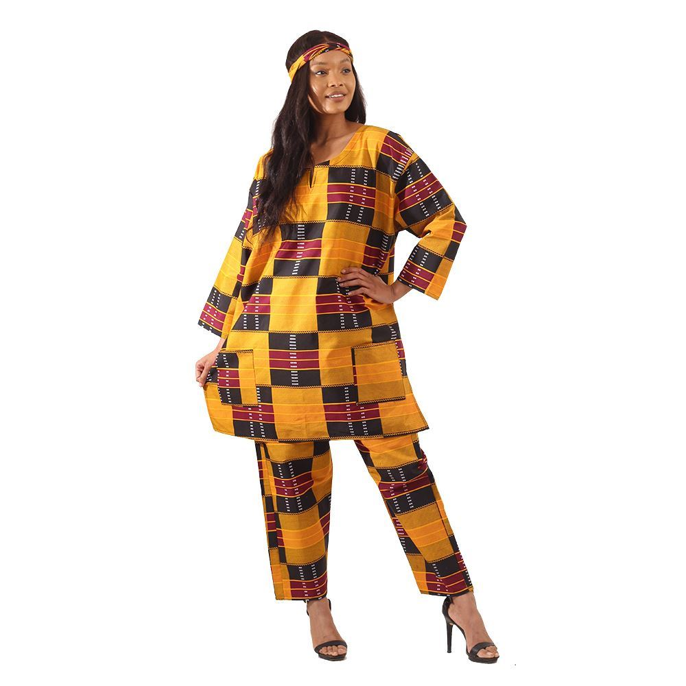 African Imports -  Kente  Pant Set #3  SKU: C-WH495   ( One Size Fits All )
