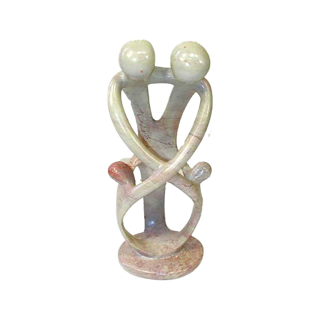 African Family Art -African Soapstone Figurine Family Tree Carved Sculpture Kenya  18 inches