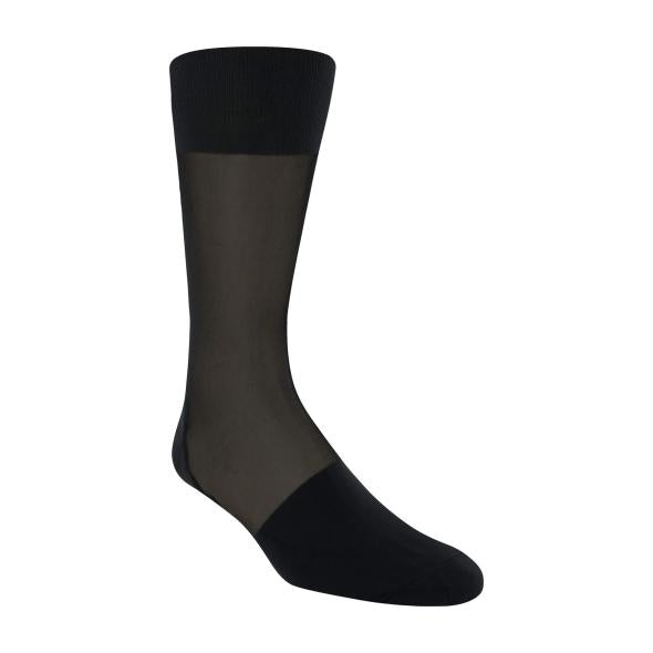Stacy Adams Silk Stripped Over The Calf Dress Socks Nylon, Spandex Blend  SKU : 000011843 Color - Black, Brown , Navy And White