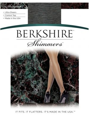 Berkshire Shimmers Ultra Sheers Control Top 4429  Ivory