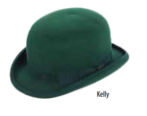 SCALA Kelly Green Structured Wool Felt Bowler Hat