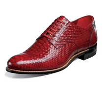 Load image into Gallery viewer, Stacy Adams Wine Red Anaconda-Print Leather Madison