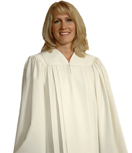 Load image into Gallery viewer, White V Neck Choir Robe - Tempo C-51