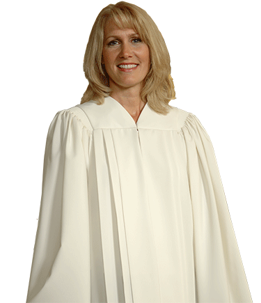 White V Neck Choir Robe - Tempo C-51