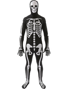 Men's Skeleton Jumpsuit - Scary Black and White Halloween Jumpsuit