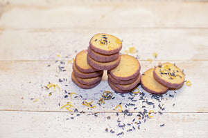 Sweater Box Confections | Lemon Lavender Cookies