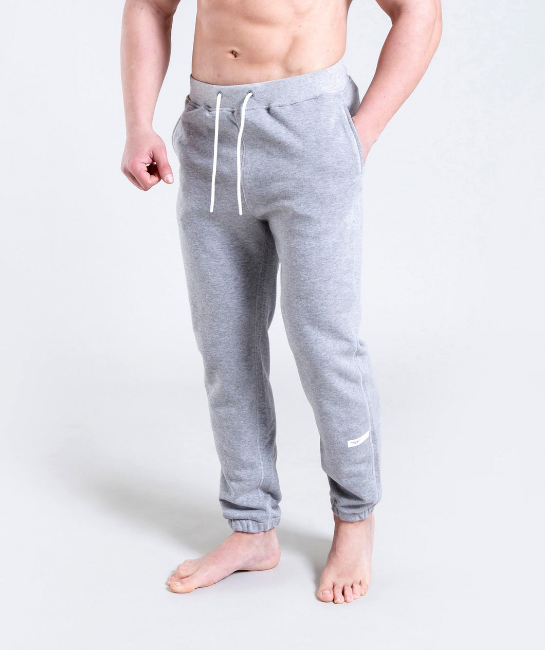 Men Terry Pants - Grey