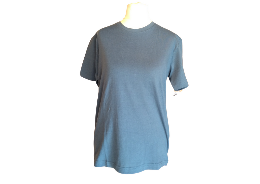 T-SHIRT COTONE INDACO UNISEX | COD. AQCIBFS | S