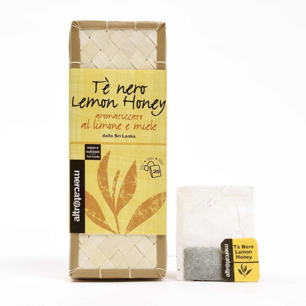 TÈ NERO LEMON HONEY CESTINO IN FILTRI SRI LANKA | COD. 00000807 | 25 filtri - 50 g
