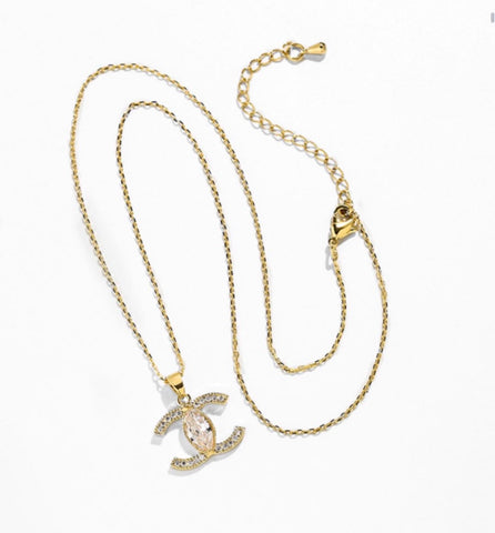 Gold Luxe C Necklace