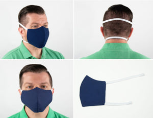 3 Layer Reusable Face Mask with SILVERbac™ Antimicrobial Technology (10 per Pack)