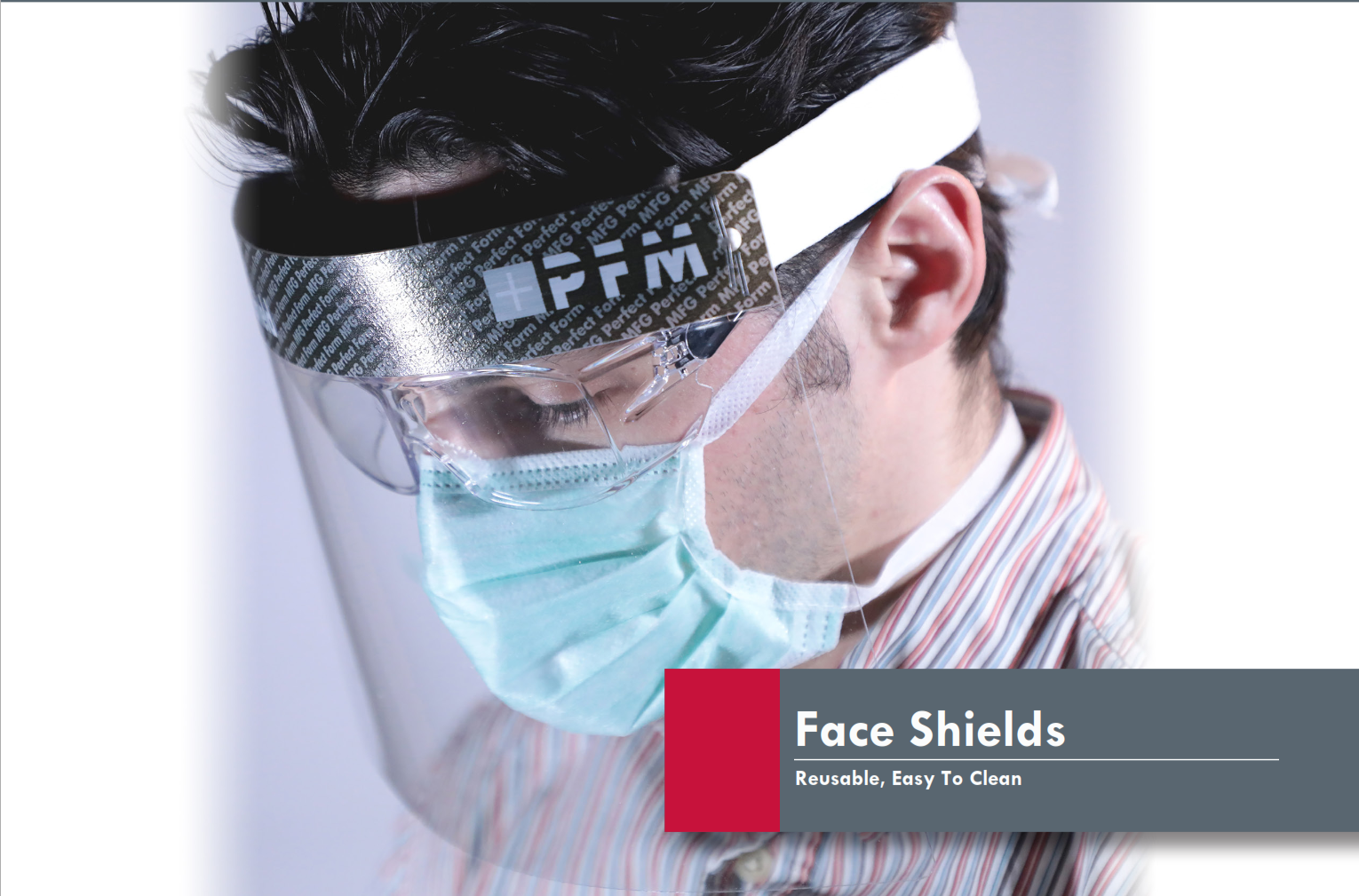 Thin-Gauge, Clear Polycarbonate Face Shields (5 per pack)