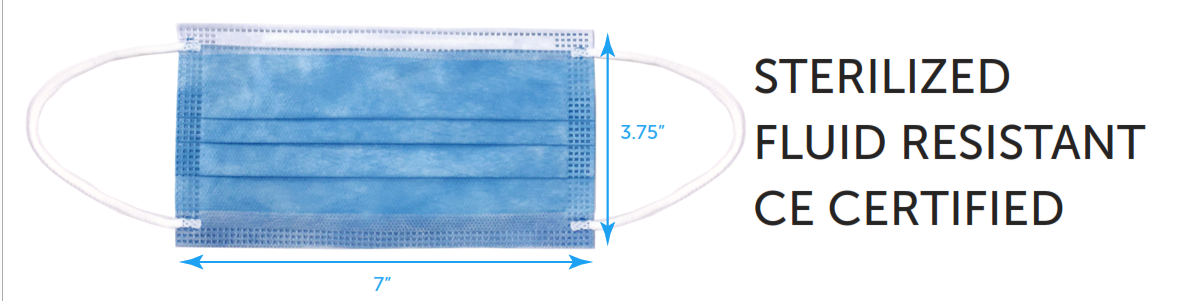 FDA-Approved Disposable Medical Masks (50 per pack)