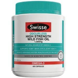 Swisse Odourless High Strength Wild Fish Oil (1500mg) 無腥味高濃魚油丸 (400粒)