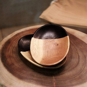 橢圓形柚木碟 Oval wooden plate - lifebuyhk