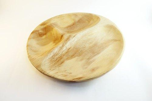 圓形三格柚木碟 Round 3-sectioned wooden plate - lifebuyhk