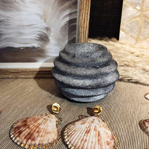 螺旋形蠟燭石台 Polistone round striped tealight holder - lifebuyhk
