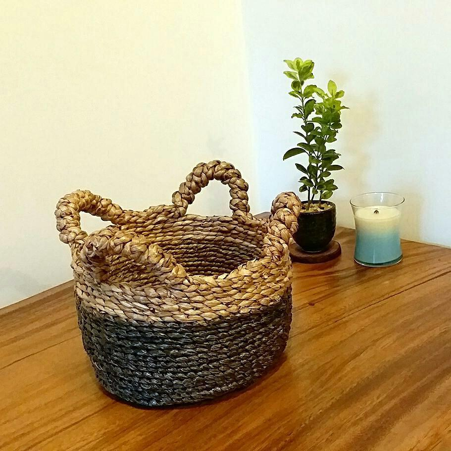 水浮蓮手工織籃(小) Water hyacinth basket (S) - lifebuyhk