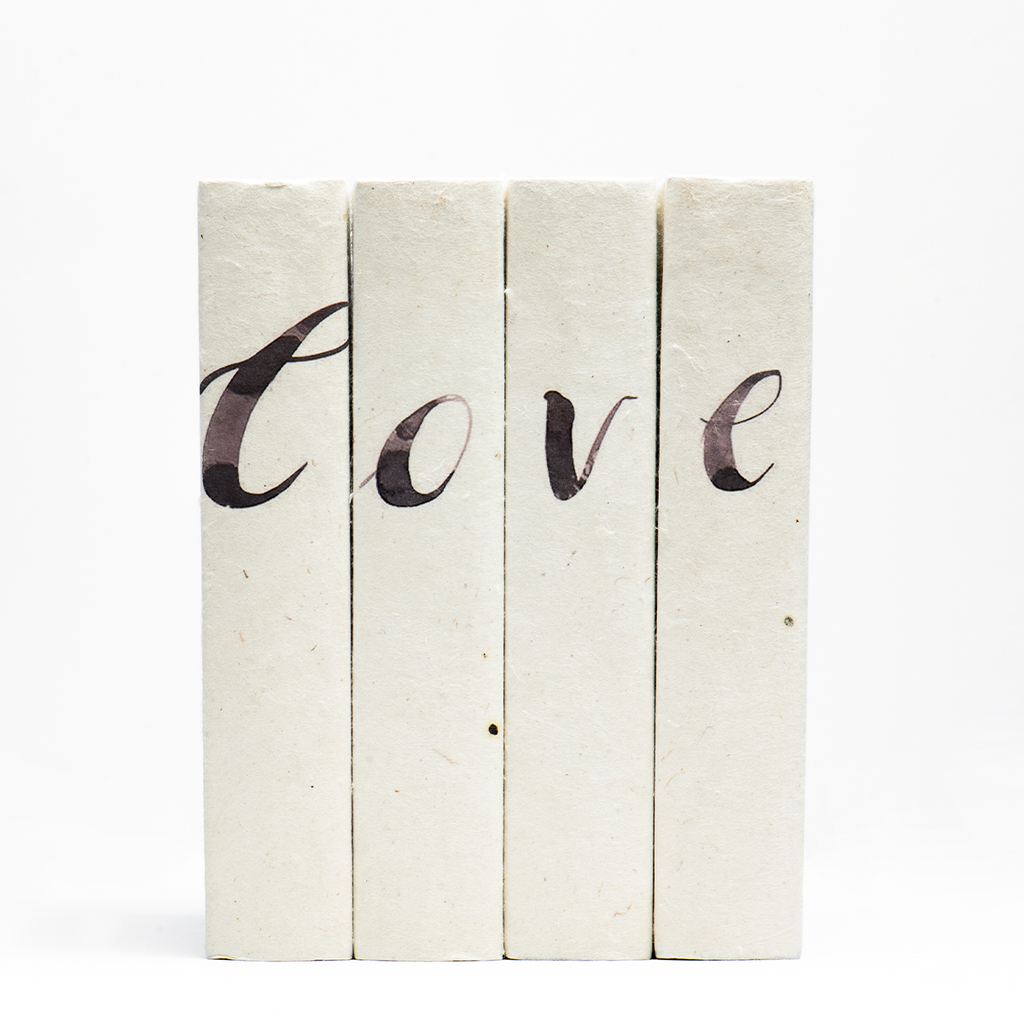 "Brushed ""Love"" Books"