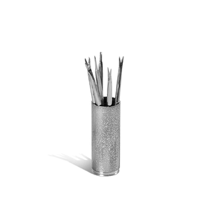 Classic Slate Stainless Olive Picks & Holder