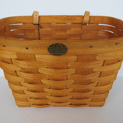 Peterboro Large Ash Wood Bicycle Basket