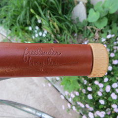 FreeLander Leather Handlebar Grips - Light Brown