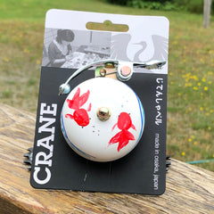 "Crane Suzu Lever Strike 'Single Ding' Hand Painted ""KOI"" (Goldfish) Bell"
